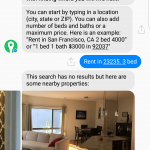 Facebook lets you text your way to a new home